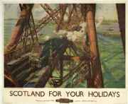 Vintage British rail poster - Scotland for your holidays